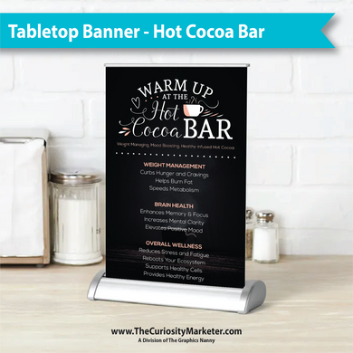 Tabletop Retractable Banner - Hot Cocoa Bar