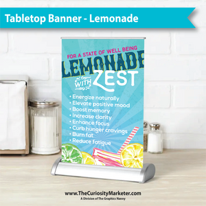 Tabletop Retractable Banner - Lemonade