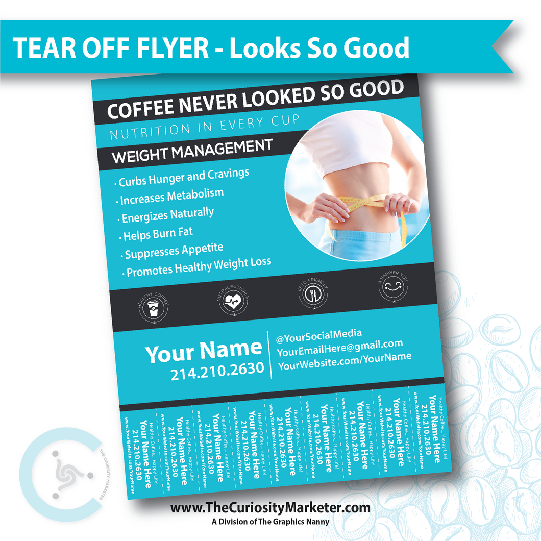 Tear Off Flyer - Looks So Good - Blue