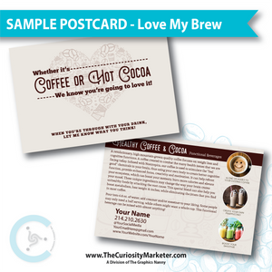 PERSONALIZED Sample Postcard - Love My Brew