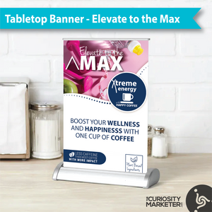 Tabletop Retractable Banner - Elevate to the Max