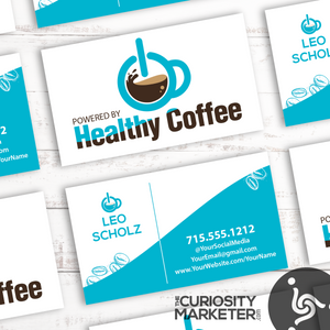 Powered by Coffee Business Card