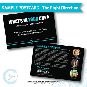 PERSONALIZED Sample Postcard - The Right Direction