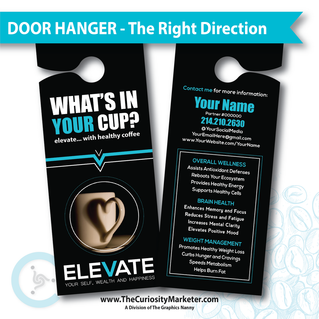 Door Hanger - The Right Direction - PERSONALIZED