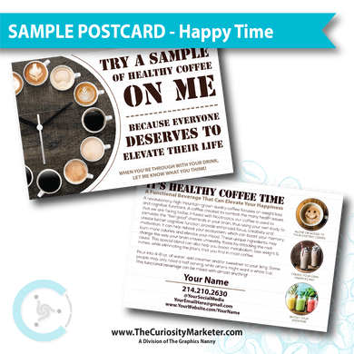 PERSONALIZED Sample Postcard - Happy Time