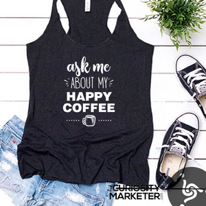 Ask Me - Charcoal Tank Top