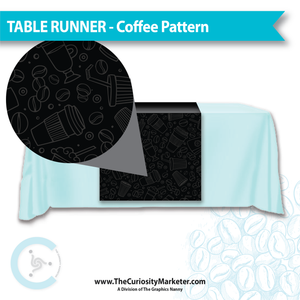 Table Runner - Coffee Pattern