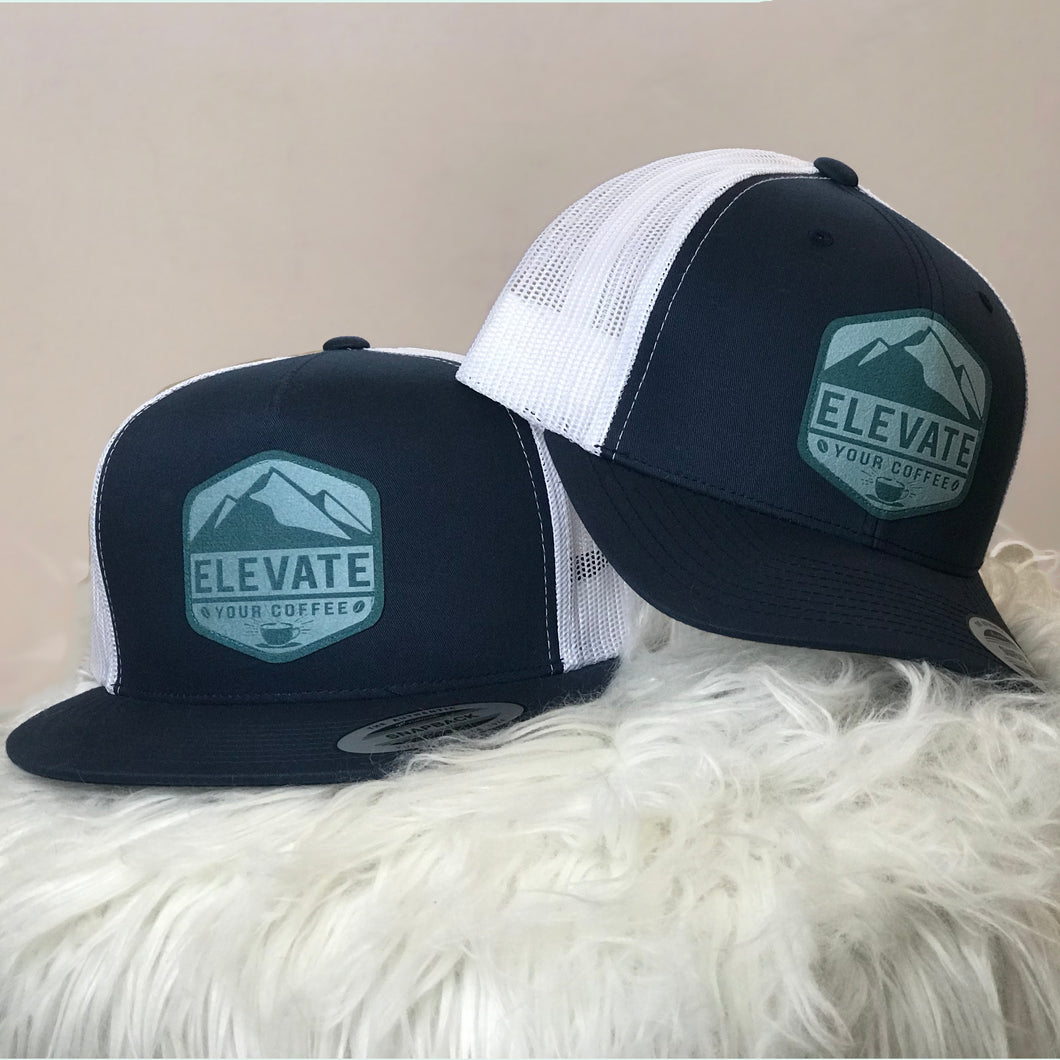 Elevate Your Coffee Navy Blue Hat
