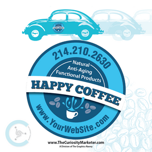 Vehicle Magnet - Happy Coffee