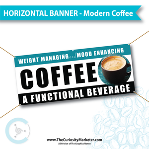 Horizontal Banner - Modern Coffee