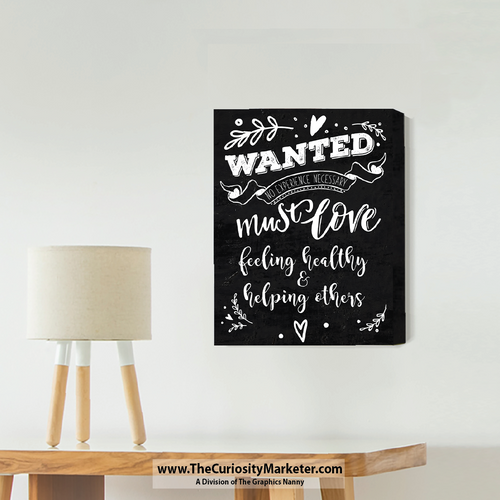Wall Art - Canvas Wrap Print - Wanted