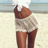 Salt Water Lace Cover-Up Short