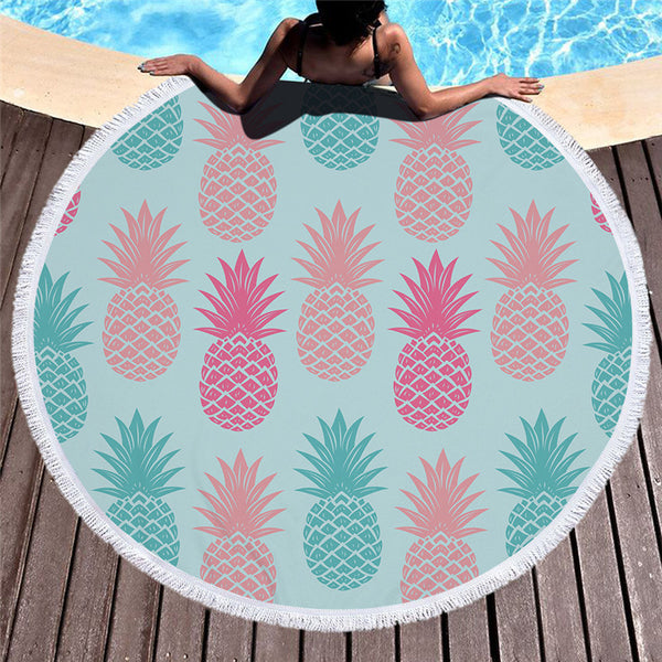 Lanai Round Beach Towel