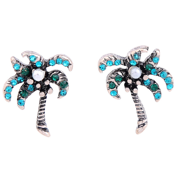Aqua Palm Earring