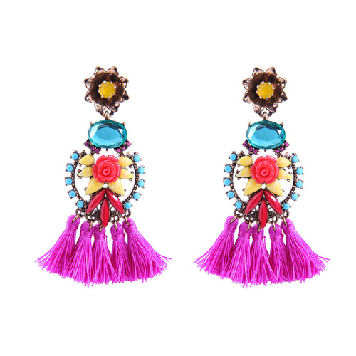 Island Flower Earring
