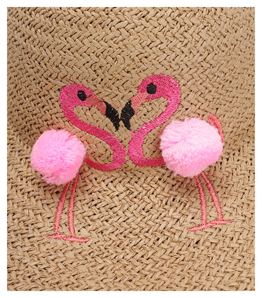 Flamingo Straw Hat