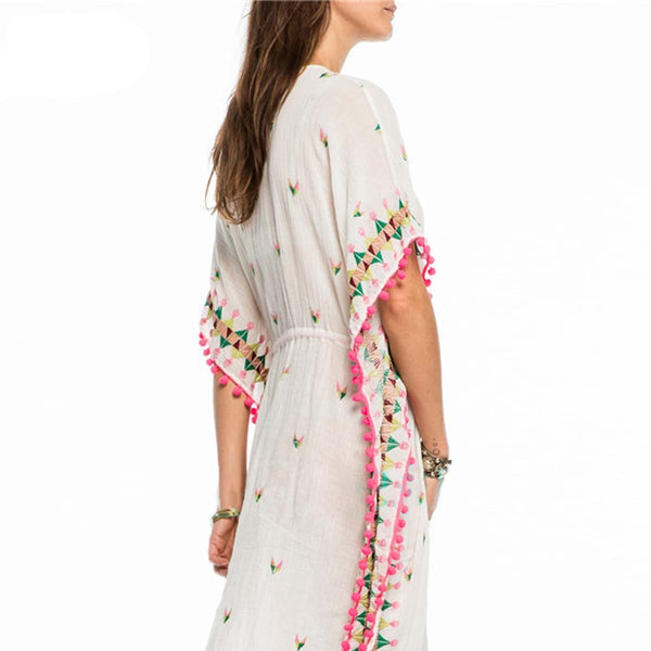 Spring Embroidered Kaftan