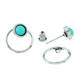 Aqua Love Earrings