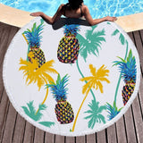Ocean Palms Round Beach Towel