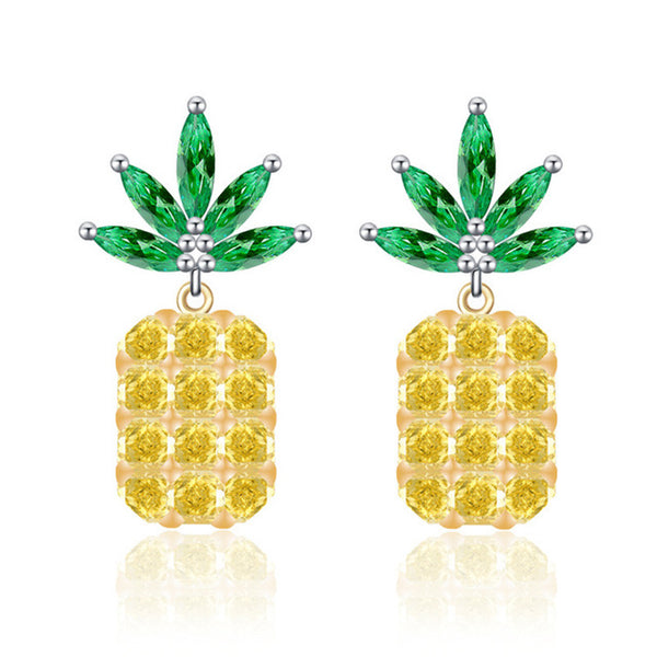 Pineapple Gem Earrings