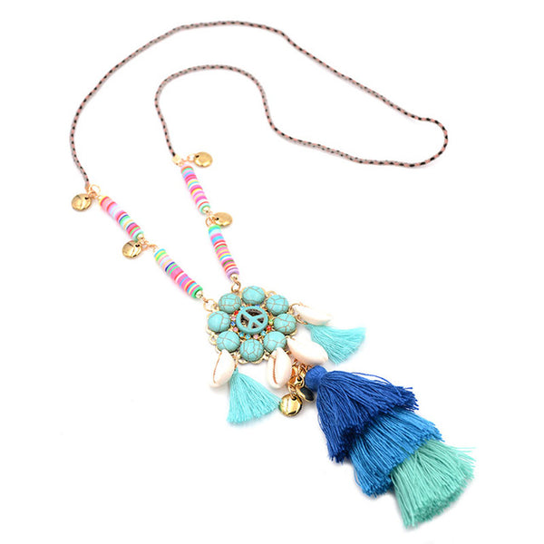 Deep Ocean Tassel Necklace