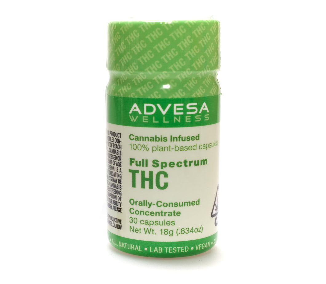THC Capsules (300mg) by Advesa Wellness