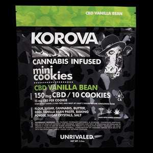 150mg CBD Vanilla Bean Mini-Cookies by Korova