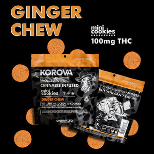 Ginger Chew Cookie by Korova (100mg THC)