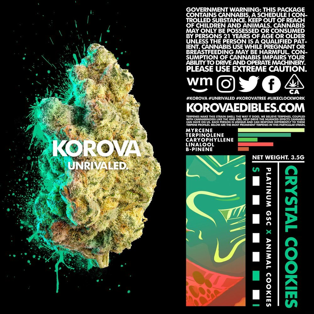Crystal Cookies 1g Bag by Korova