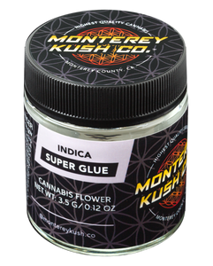 Super Glue 1/8th Oz. Jar by Monterey Kush Co.
