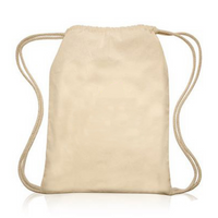 Natural Cotton Drawstring Backpack Customize Monogram Sisters