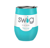 SWiG 12 oz Wine Tumblers Insulated 304 Stainless Steel Powder Coat Cool Drinks No Sweat!