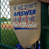 Burlap Garden Flag - Customized Baseball Theme