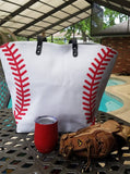 Large Baseball Tote, 22x15x6, Lined Neoprene  (Monogram Available)