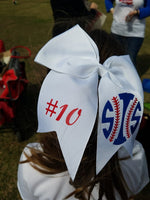 Personalized Cheer Bows in Multiple Colors!
