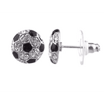 "Mini Soccer Ball Post Earrings 1/4"" diameter"