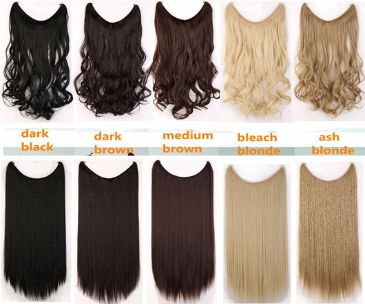 20 inches Invisible Wire Hair Extensions – Leisure Stores