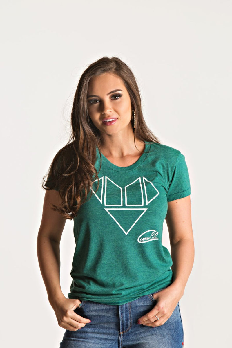 Heart Blocks/ Women's Crew Neck T-Shirt