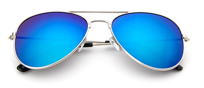 Kids Aviator Blue Sunglasses