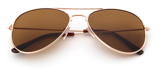 Kids Aviator Brown Sunglasses