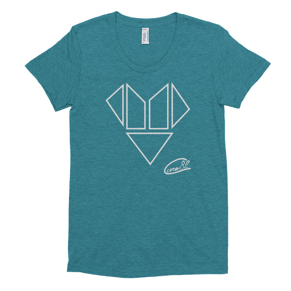 Heart Blocks / Womens Crew Neck T-shirt