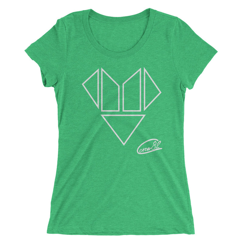 Heart Blocks / Womens Short Sleeve T-shirt