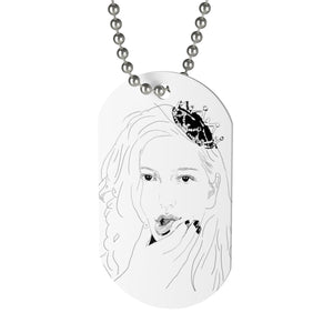 King Princess Necklace/Lesbian Musician/Lesbian Artwork/LGBTQ Pride/Mikaela Straus Art/Gay Artwork/Queer/King Princess Drawing