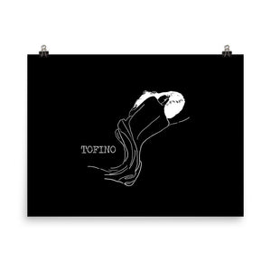 Tofino Artwork/Westcoast Art/Tofino Gift/Surfing/Wave/Nude Woman/Figure drawing/Ocean Art/Sea Shell/Beautiful Nude Poster
