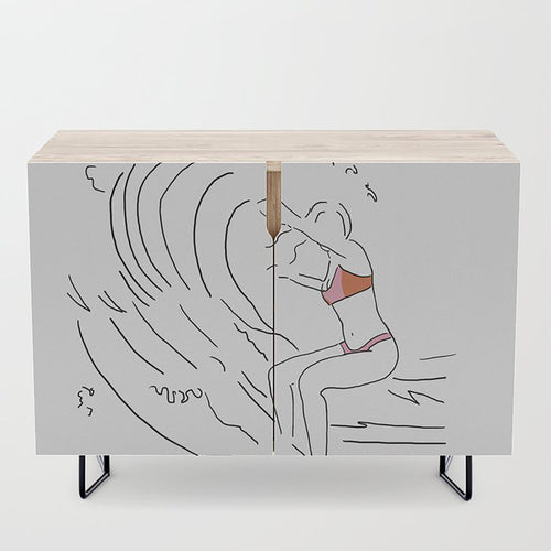 Credenza West Coast Card/Ocean Art/Nature/West Coast Art/Figure Drawing/Surfing Art/West Coast Vibes California Vancouver Artist