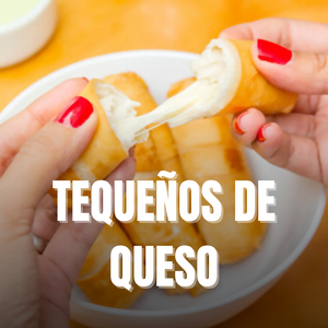 Cheese Tequeños/Breaded Cheese Rolls of Cheese Colombian Style/ Deditos de Queso