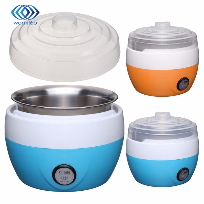 Electric multifunction Yogurt/Cheese Maker Stainless Steel Liner, 1L Capacity
