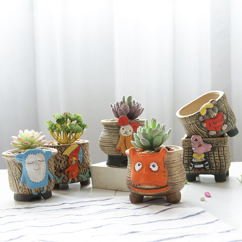 decorative porcelain flower pots