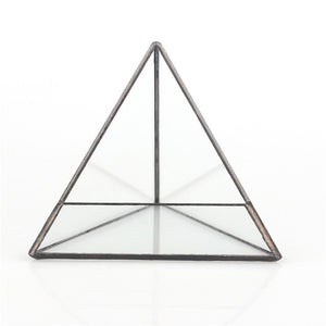 Tabletop Geometric Glass Terrarium
