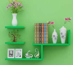 Modern Wall-Mount Book Shelf